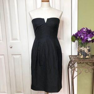 J. Crew cotton/silk black dress